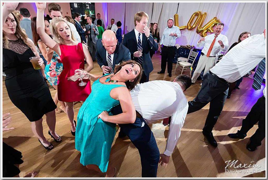 The center wedding Reception Photography