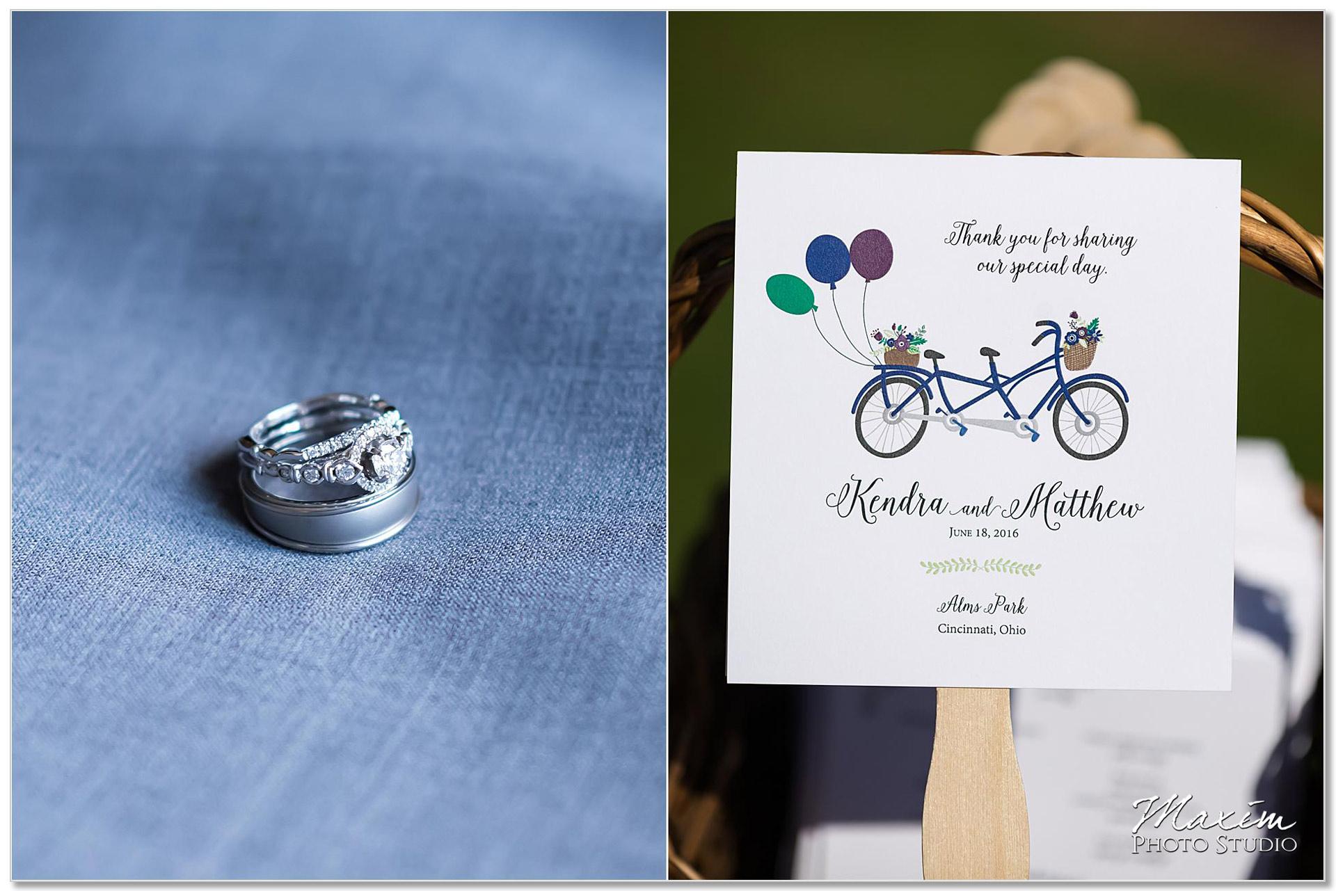 Alms Park Cincinnati Wedding ring