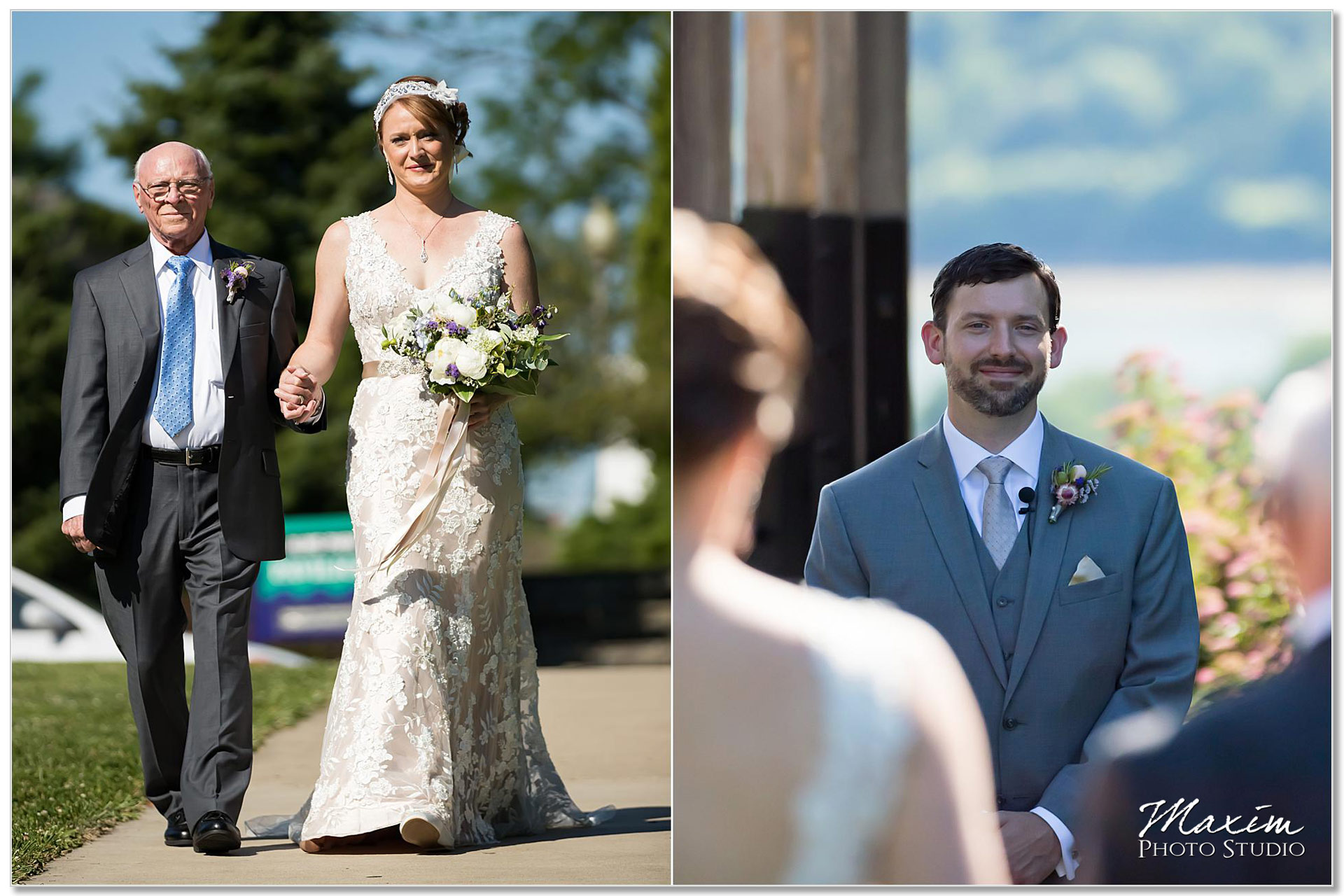 Alms Park Bride Groom Cincinnati wedding