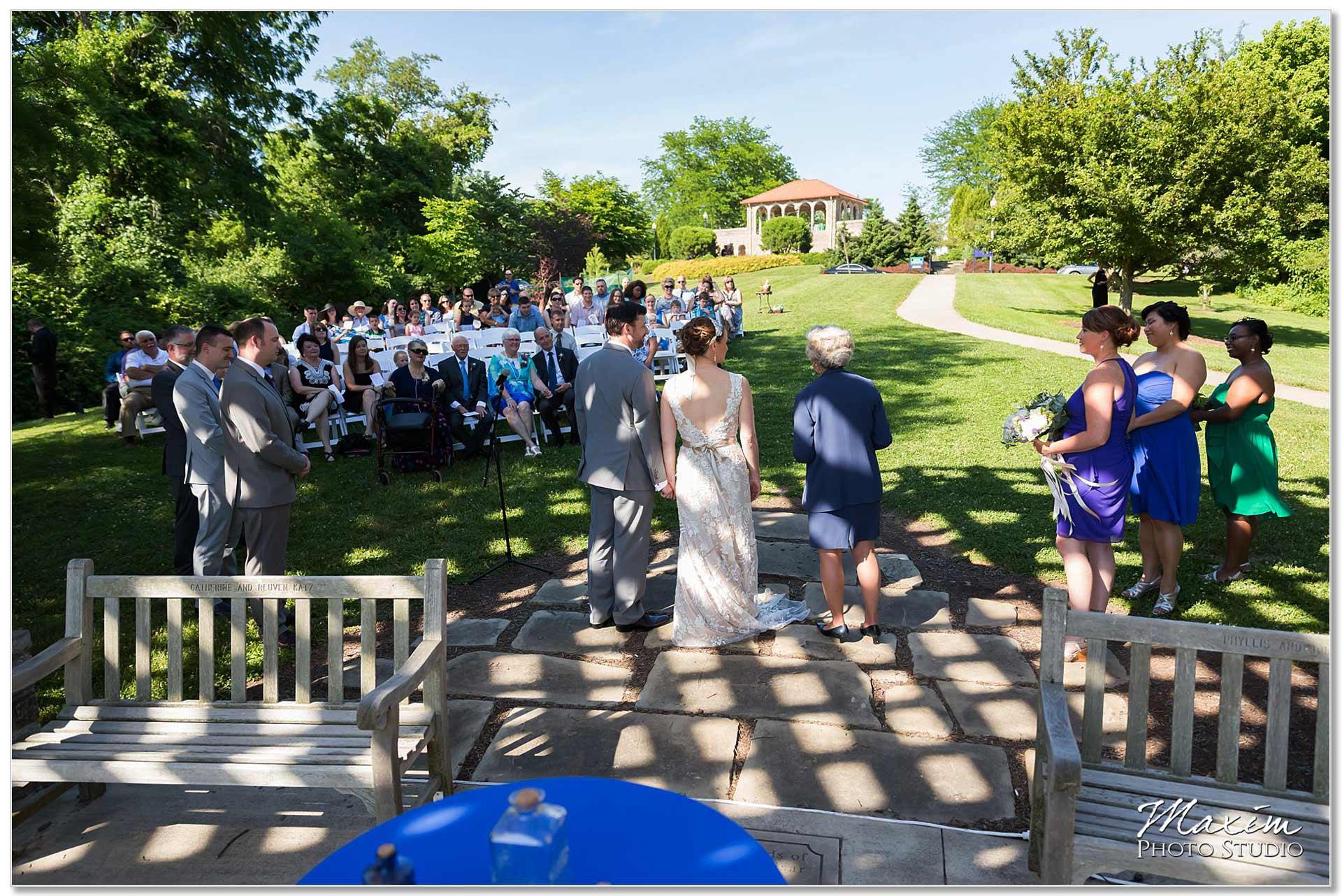 Wedding Ceremony at Alms Park Pergola