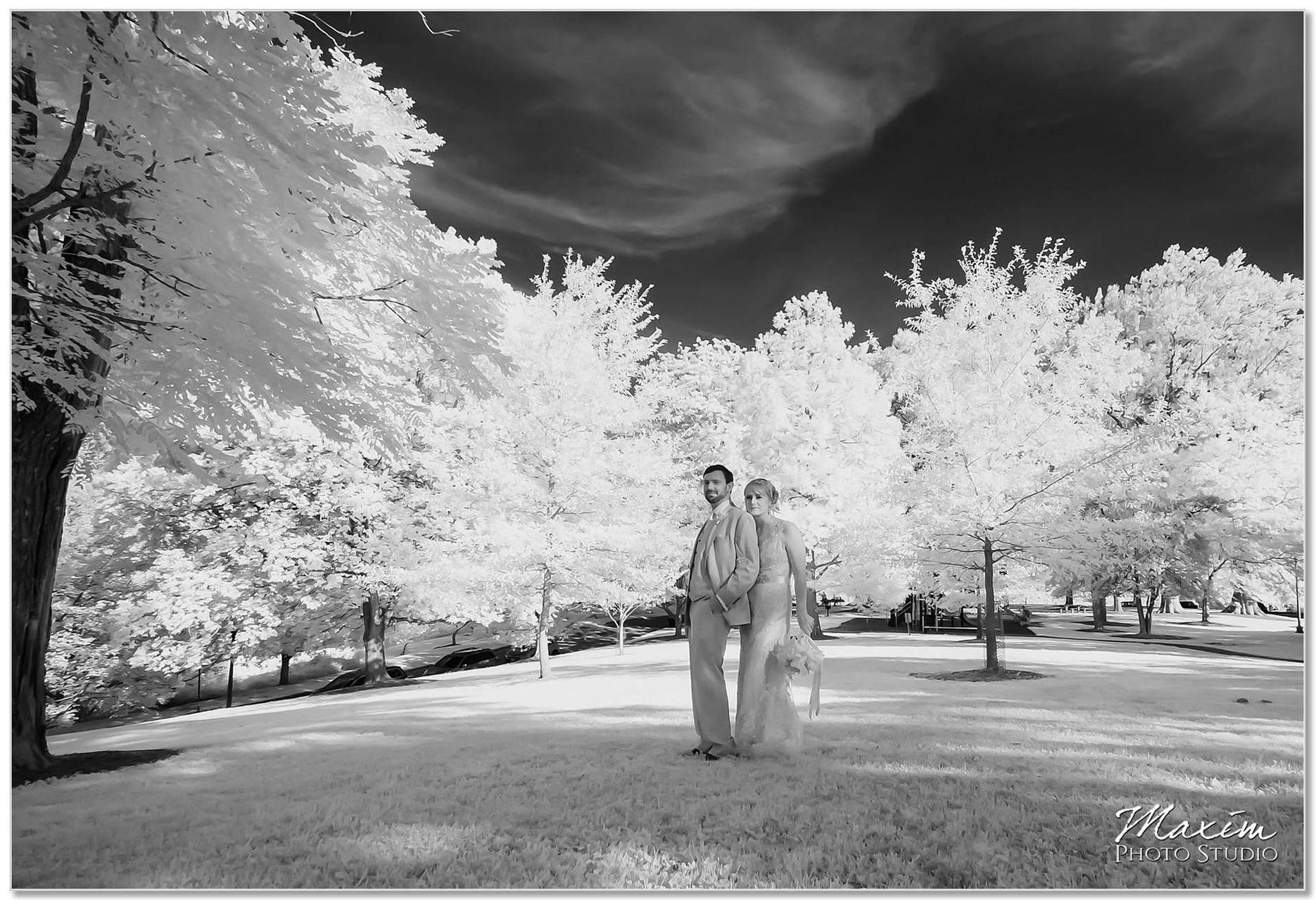 Alms Park Wedding portraits Infrared