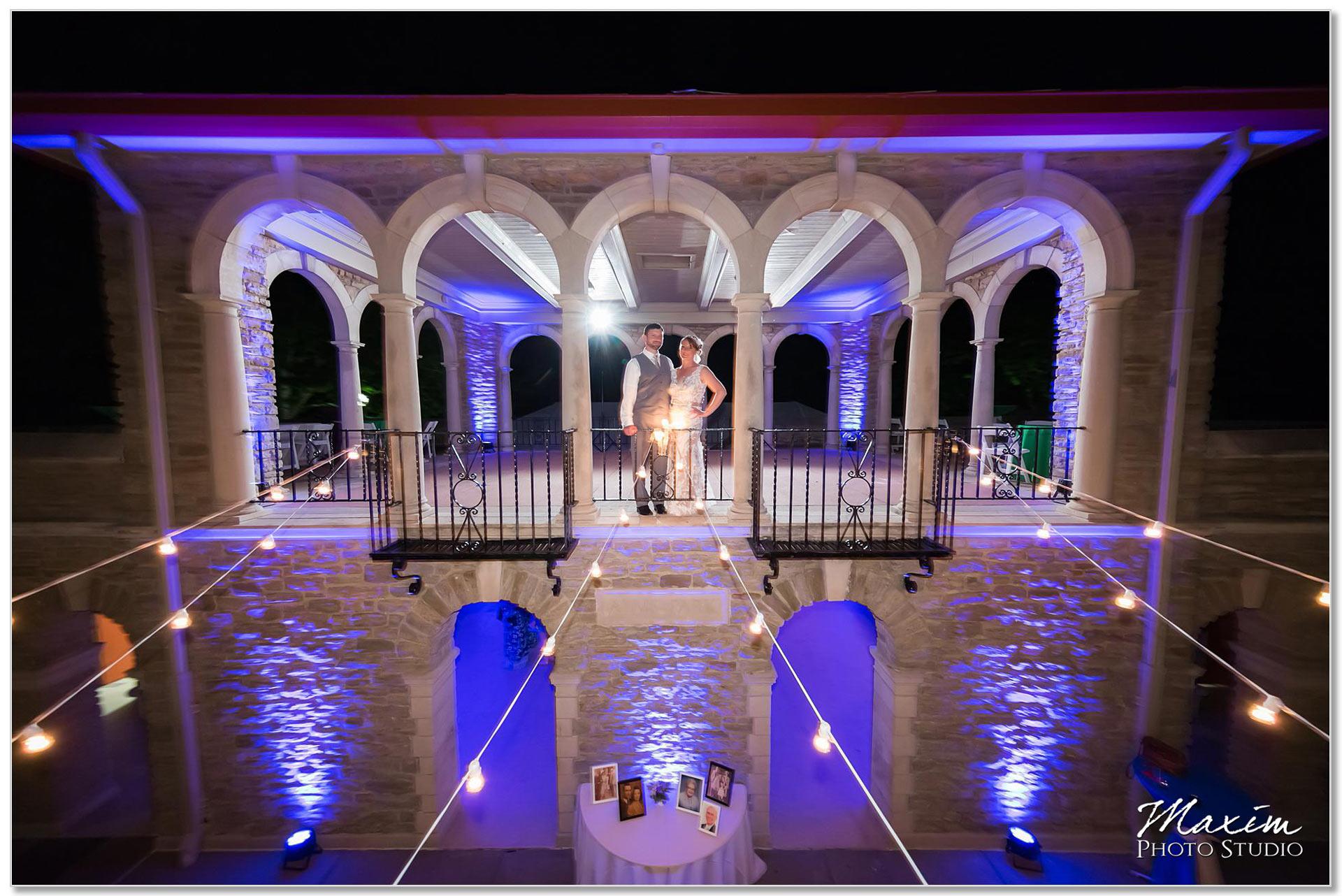 Alms Park wedding reception pavilion