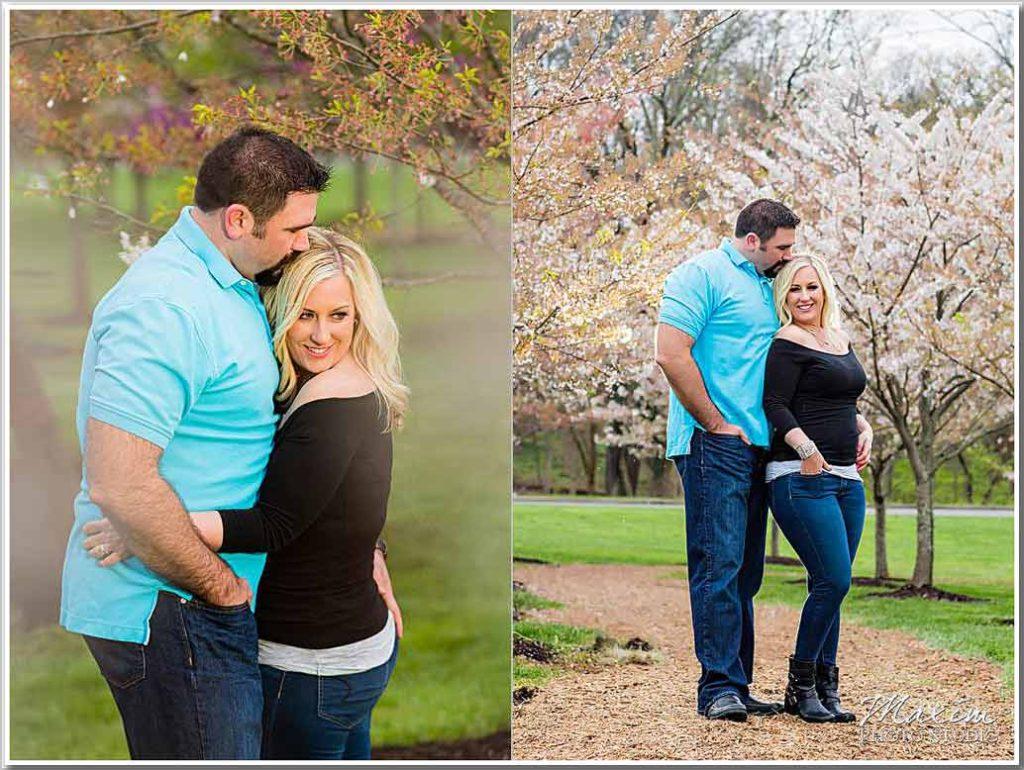 Cincinnati Engagement Ault Park Cherry Blossoms