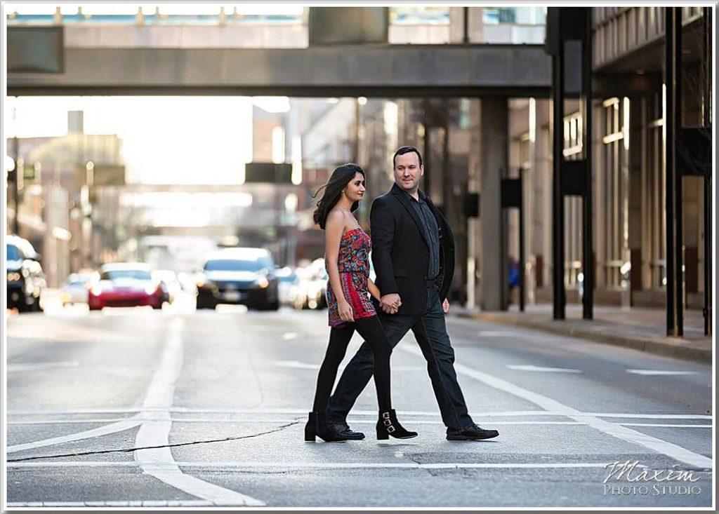 Downtown Cincinnati Engagement Photography