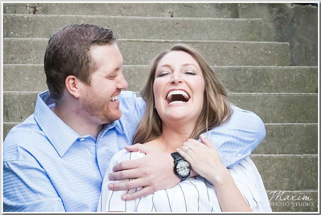 Fun Ault Park Cincinnati Engagement Photography