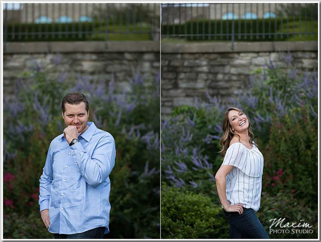 Couple engagement photography Ault Park Cincinnati