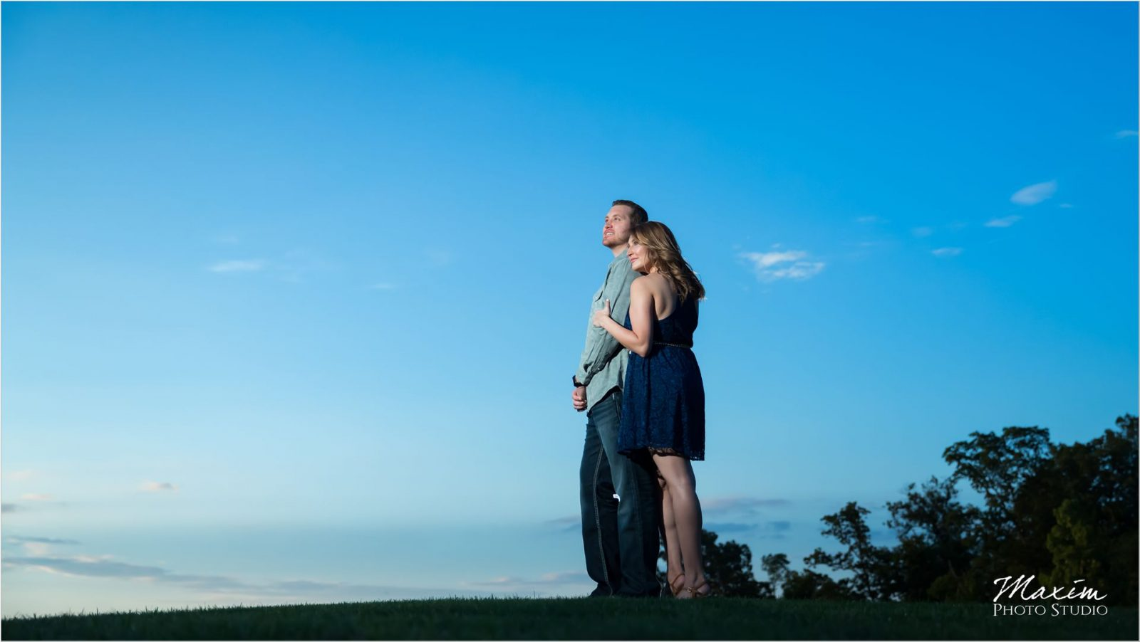 Ivy Hills Country Club Engagement Blue Skies