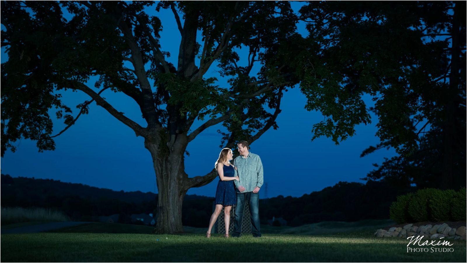 Ivy Hills Country Club Engagement sunset