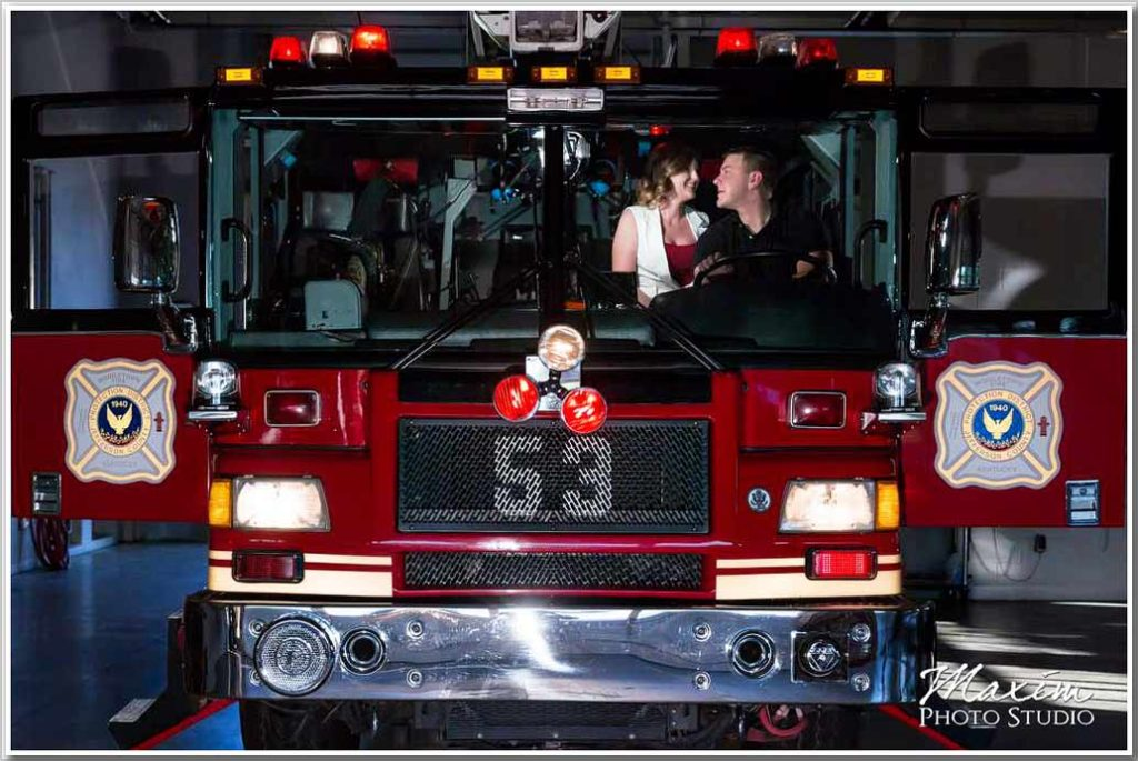 Lousville Kentucky Engagement Photography firehouse