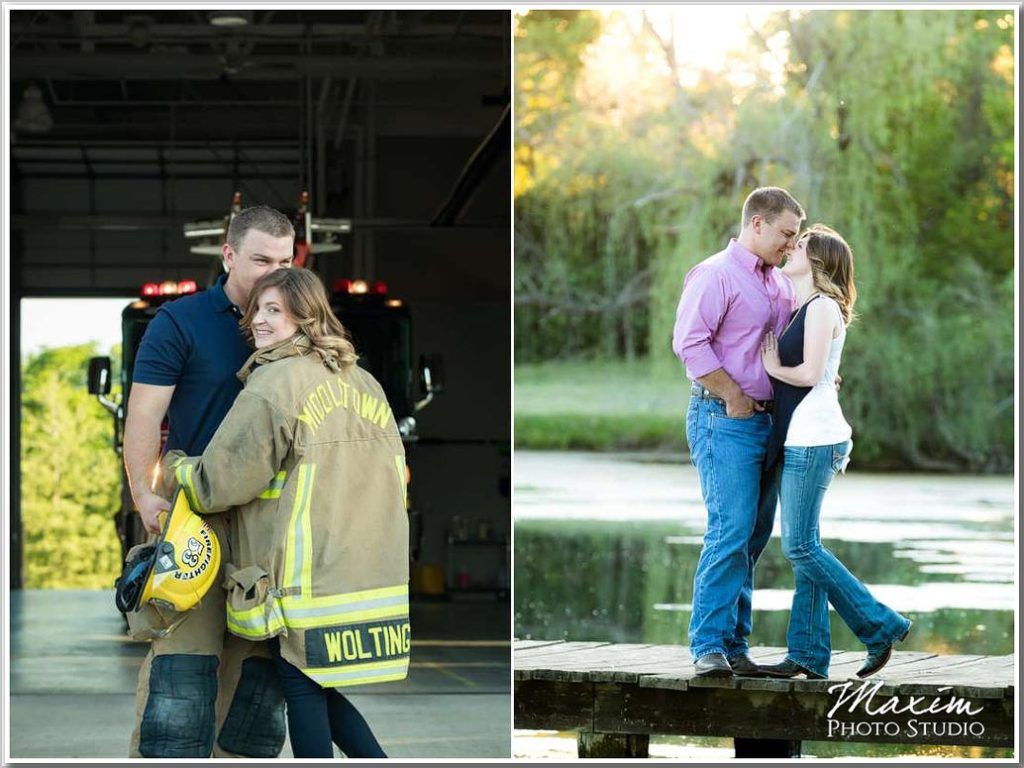 Cincinnati Wedding Photographer louisville firehouse engagement