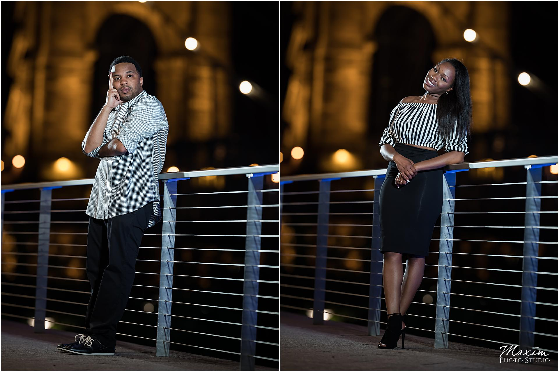 Roebling Bridge, Cincinnati night engagement