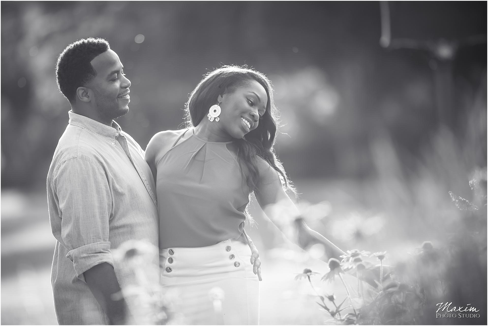 Ault Park, Cincinnati Engagement, black white, summer engagement