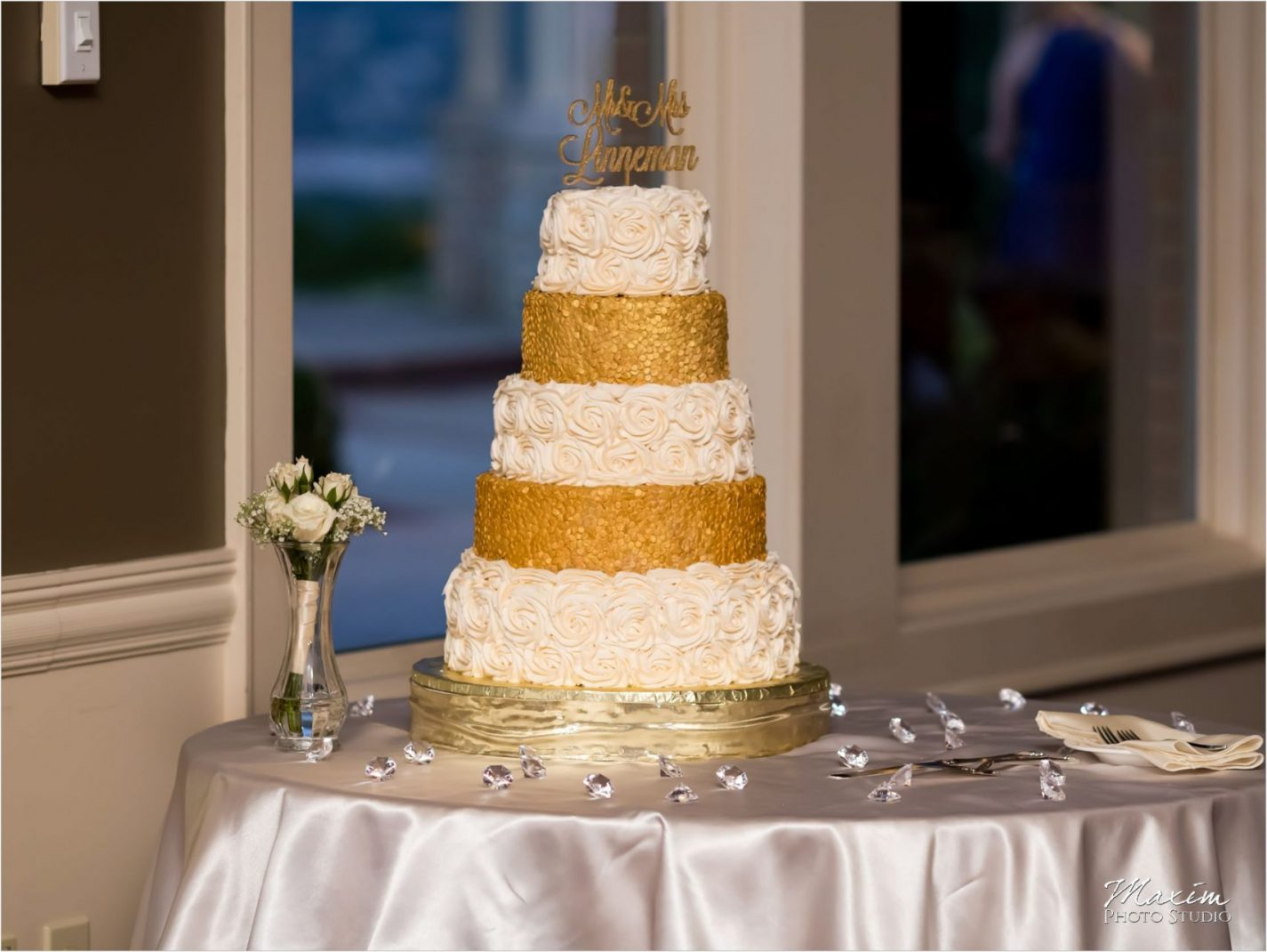 Drees Pavilion Covington Kentucky Wedding Cake