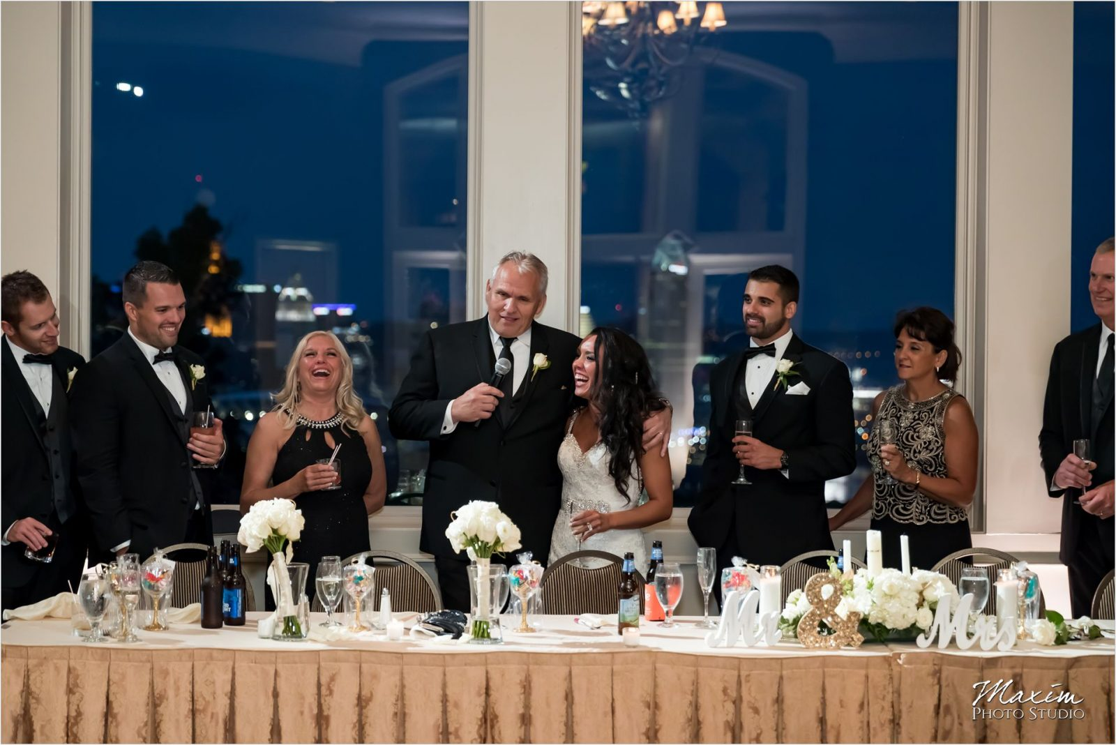Drees Pavilion Covington Kentucky Wedding Reception signature toasts