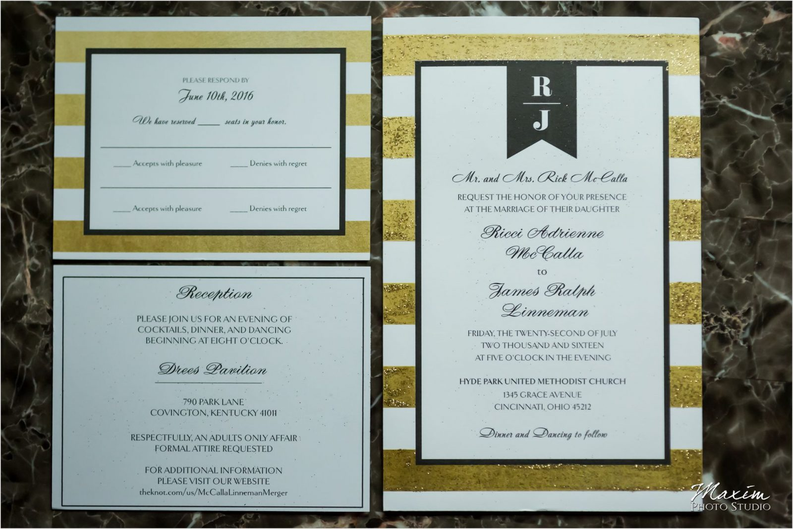Drees Pavilion Cincinnati Wedding Invitations