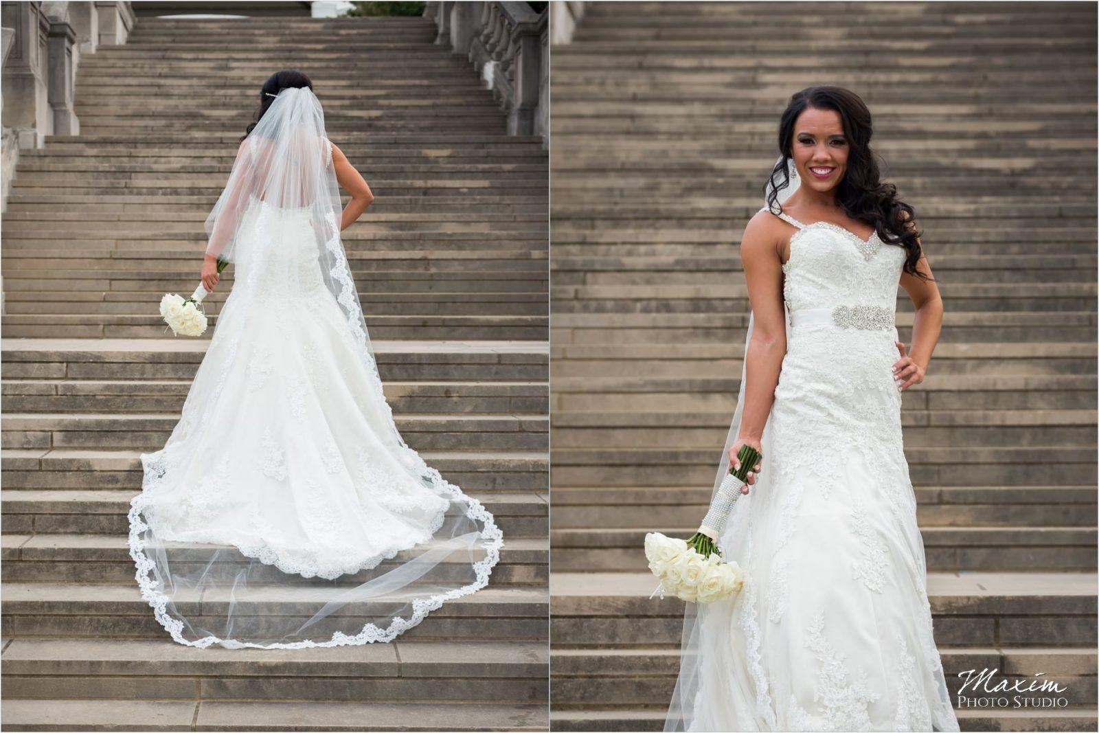 Ault Park Cincinnati Bride Bridesmaids Pavilion fountain