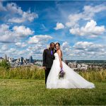 Cincinnati Skyline, Devou Park, The Center Cincinnati, Bride Groom