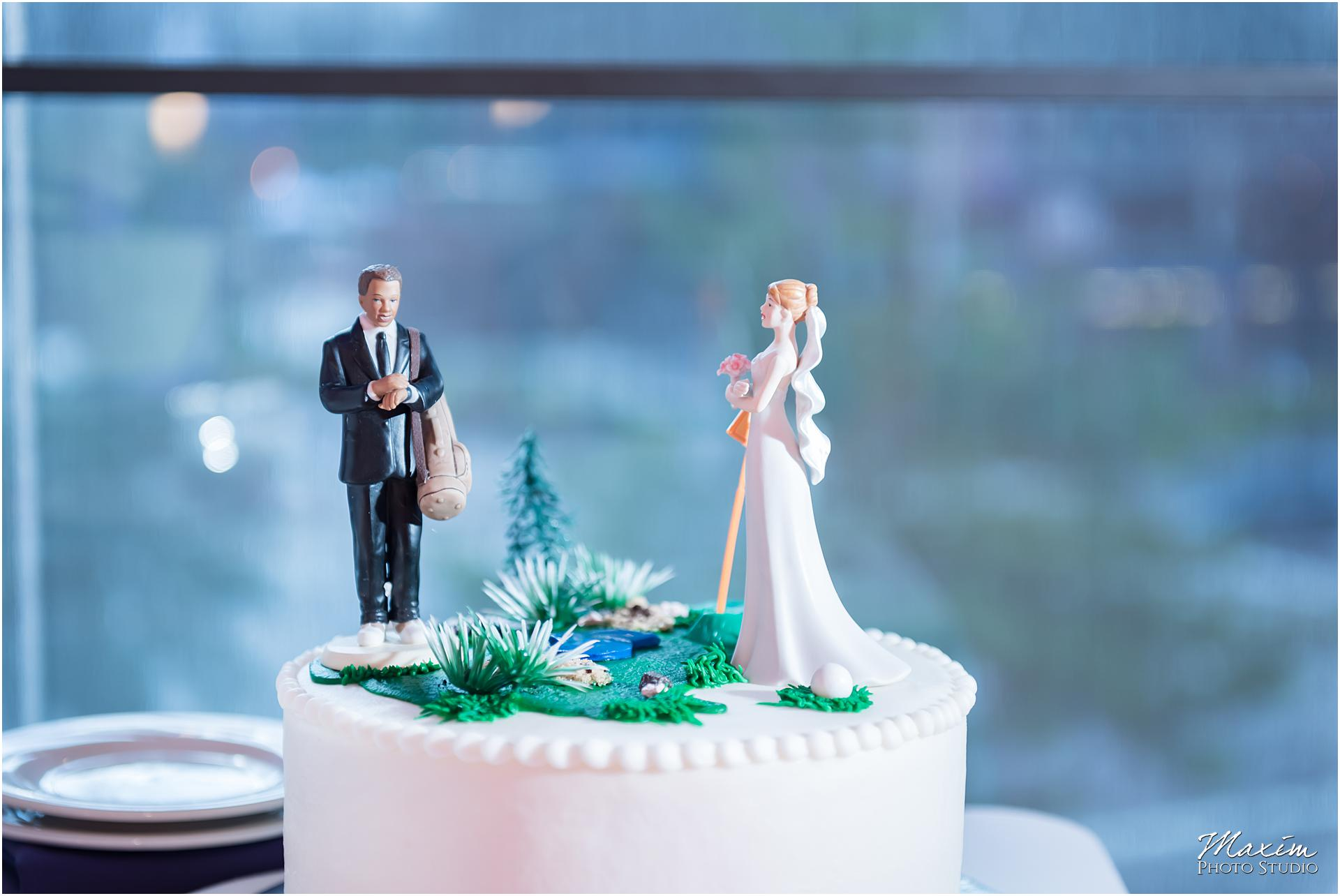 The Center Cincinnati Wedding Reception cake topper