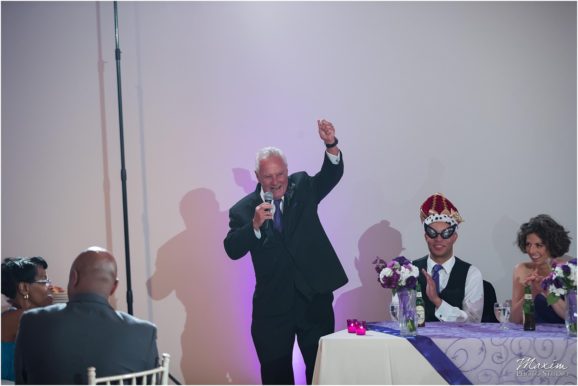 The Center Cincinnati Wedding Reception father toast