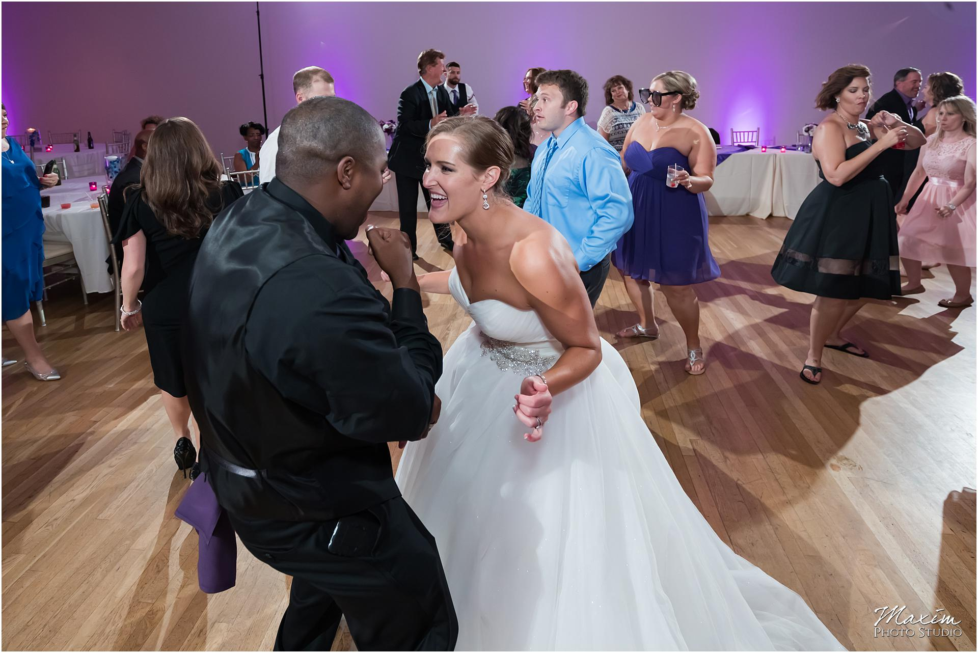 The Center Cincinnati Wedding Reception Bride groom dance