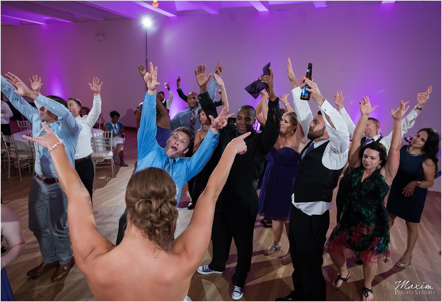 The Center Cincinnati Wedding Reception Guest dance