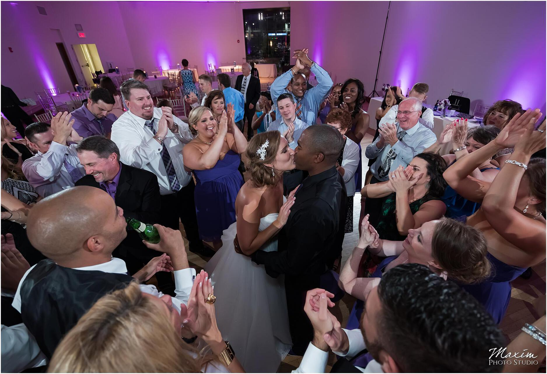 The Center Cincinnati Wedding Reception Couple