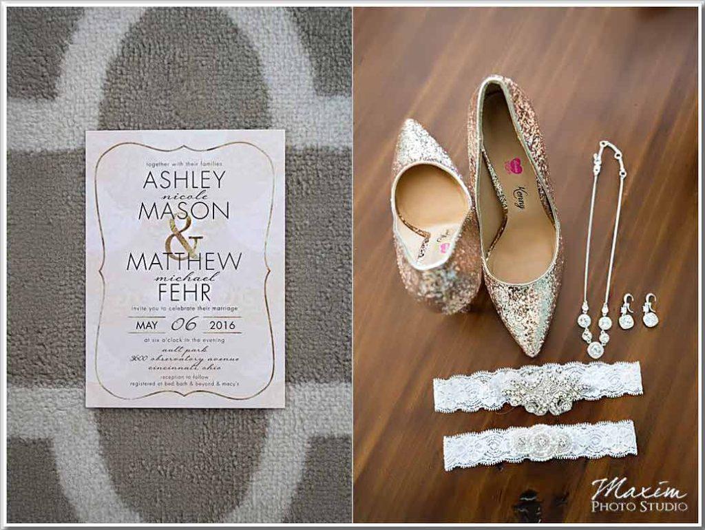 Ault Park Cincinnati wedding shoes