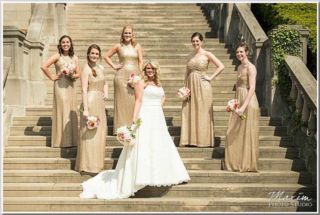 Ault Park Pavillion Brides stairs