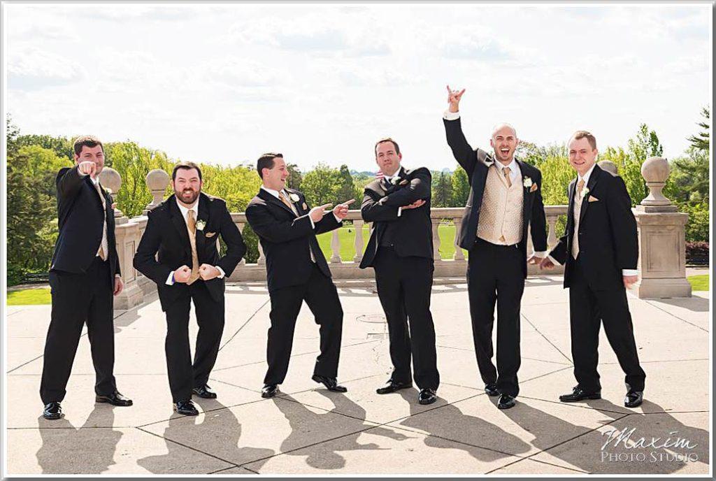 Groom groomsmen Ault Park Cincinnati
