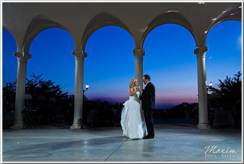 Ault Park first Dance Sunset photography