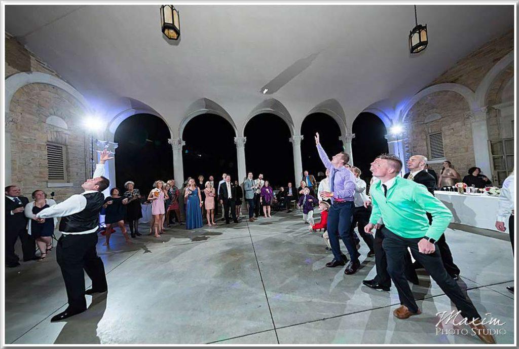 Ault Park Garter Toss Wedding Reception