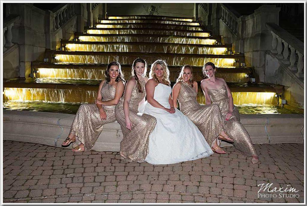 Ault park Fountain Wedding Bride