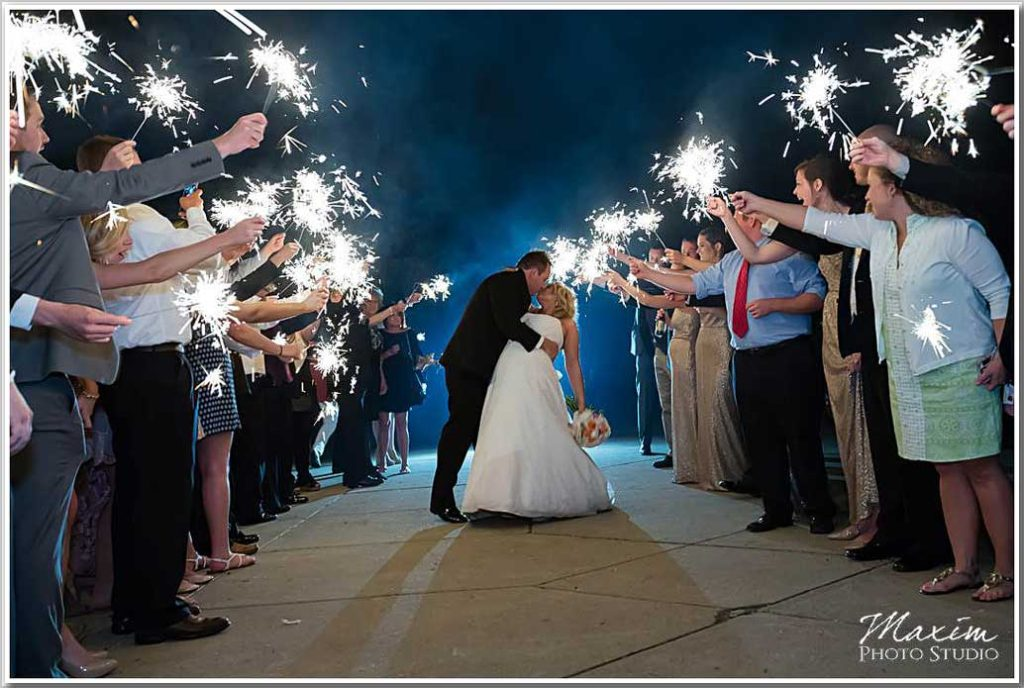 Ault Park Cincinnati Sparklers Wedding