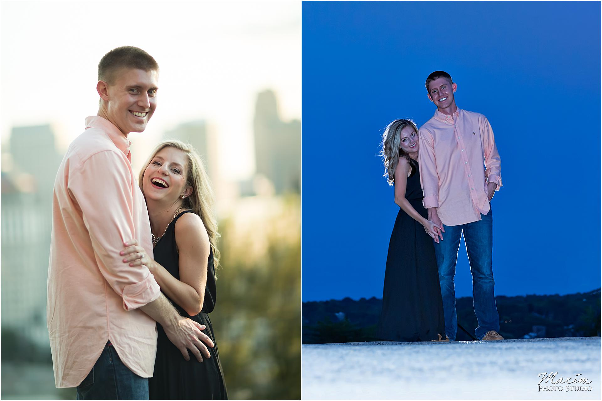 Ault Park Cincinnati, Engagement Photography, night engagement