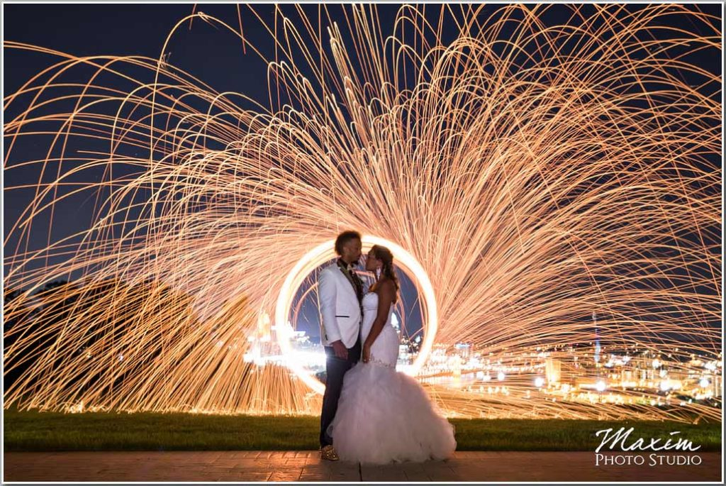 Drees Pavilion Sparkler wedding image
