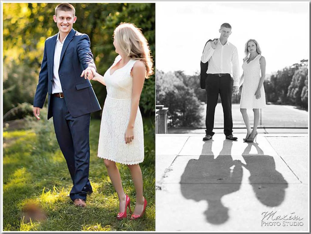 Fashionable Real Modern Cincinnati Engagement