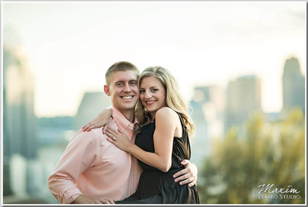 Rookwood Cincinnati overlook engagement picture