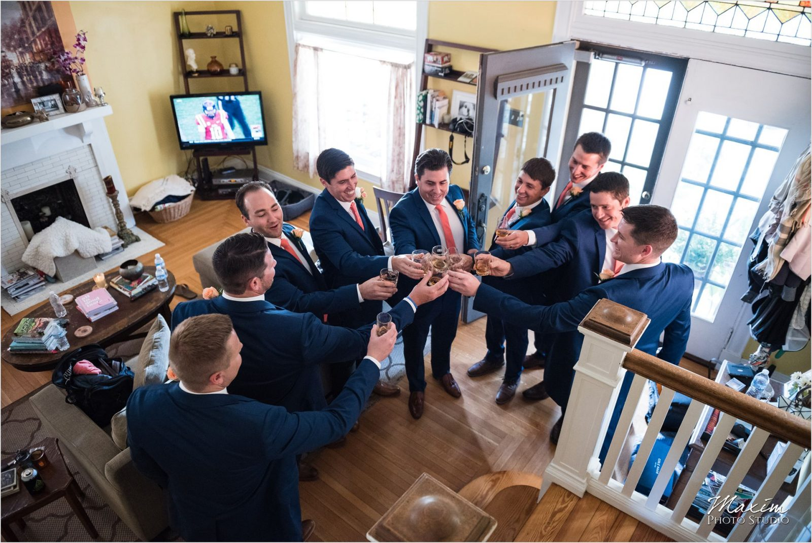 Newport Syndicate Cincinnati Wedding Groomsmen