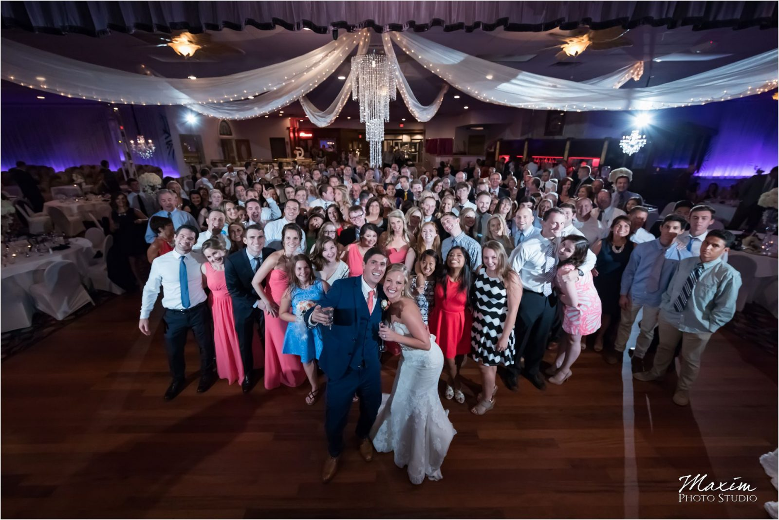 Newport Syndicate Covington Kentucky Wedding Reception Group Photo