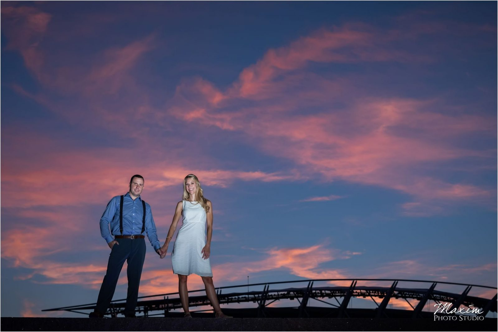 Paul Brown Cincinnati Sunset Engagement
