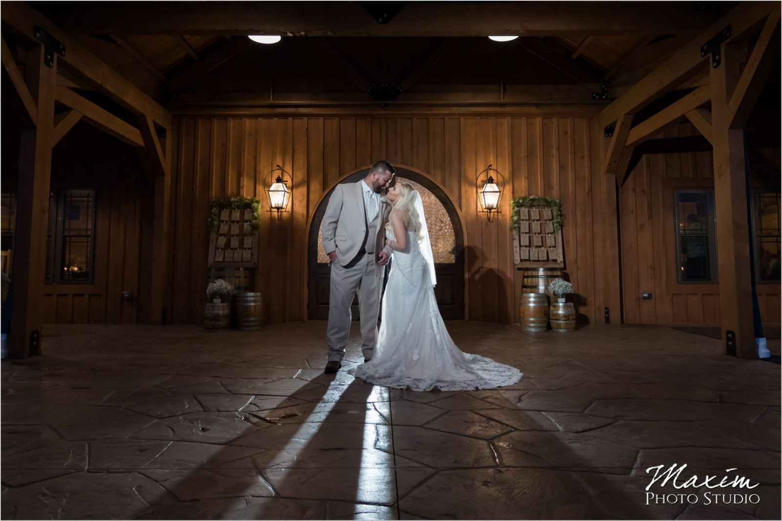 Rolling Meadows Ranch night time wedding