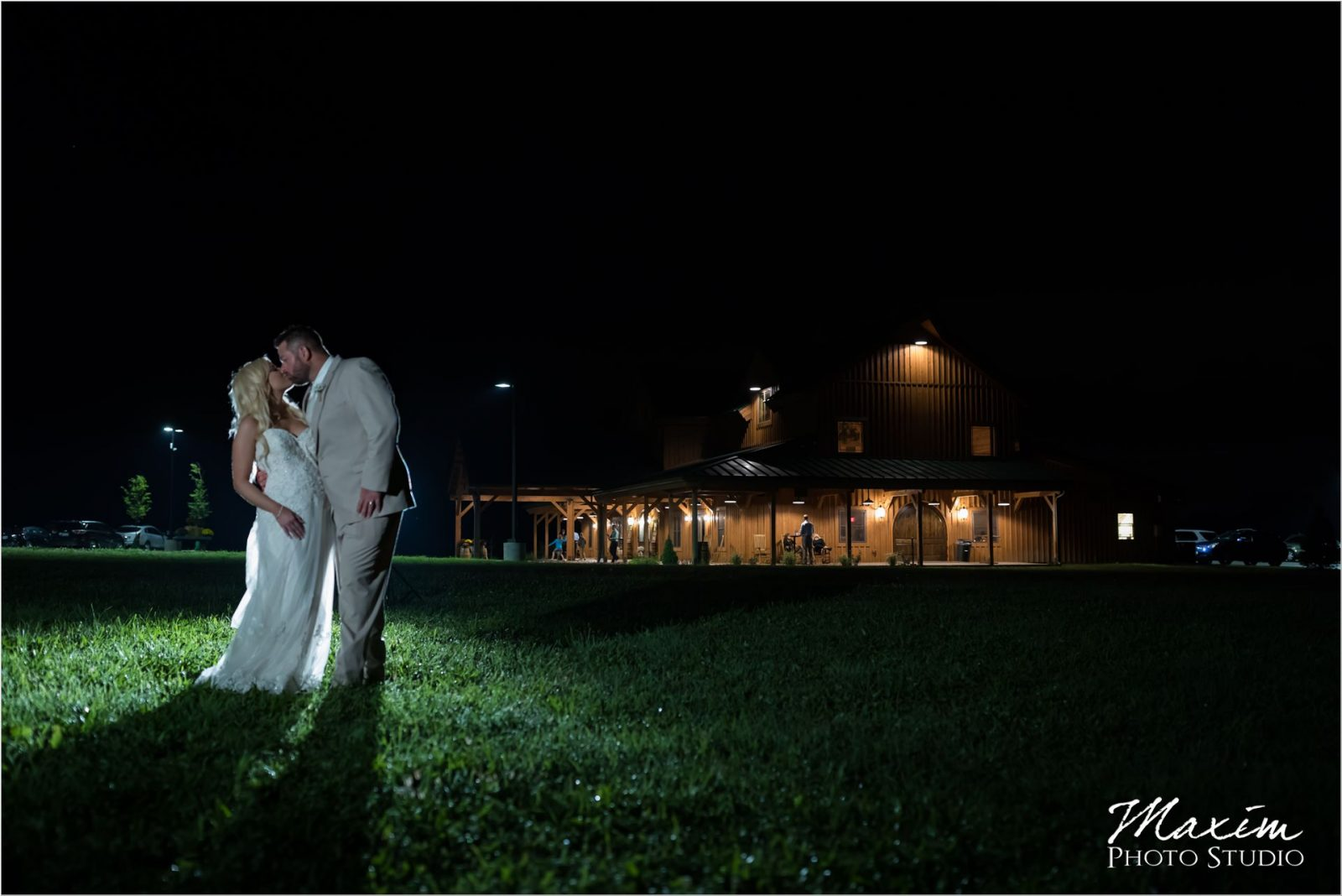 Rolling Meadows Ranch nighttime wedding