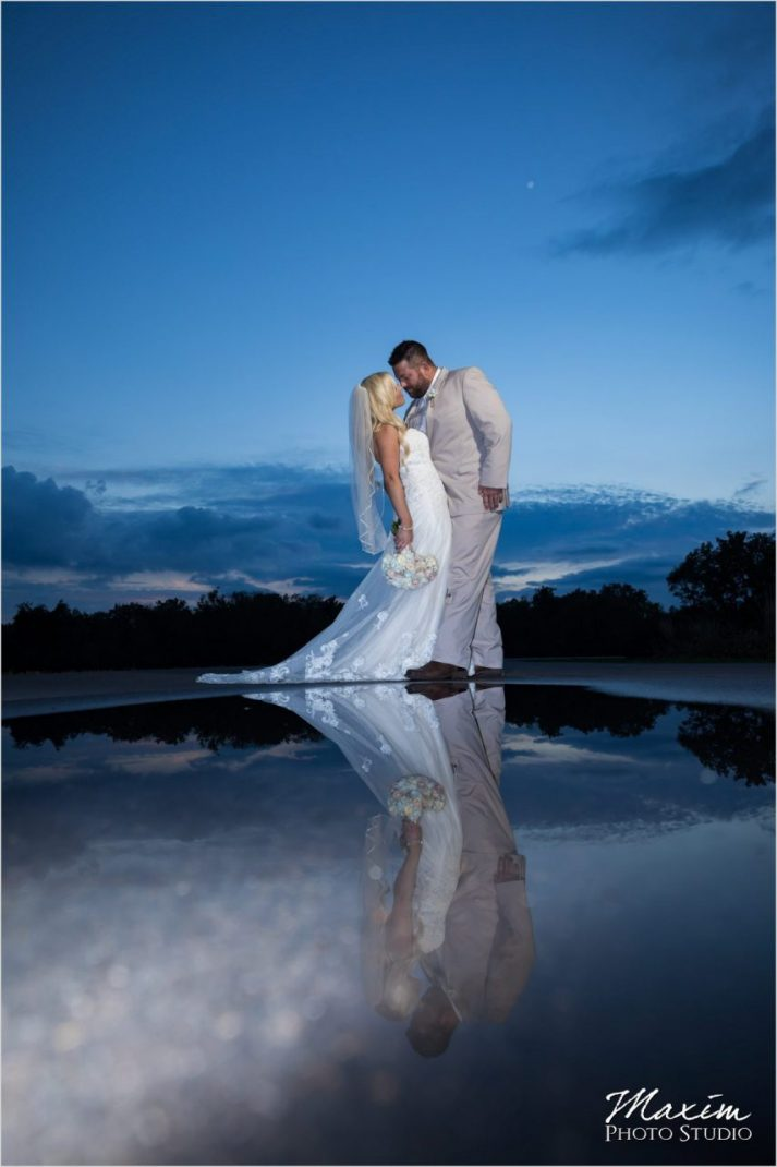 Rolling Meadows Ranch wedding reflection picture