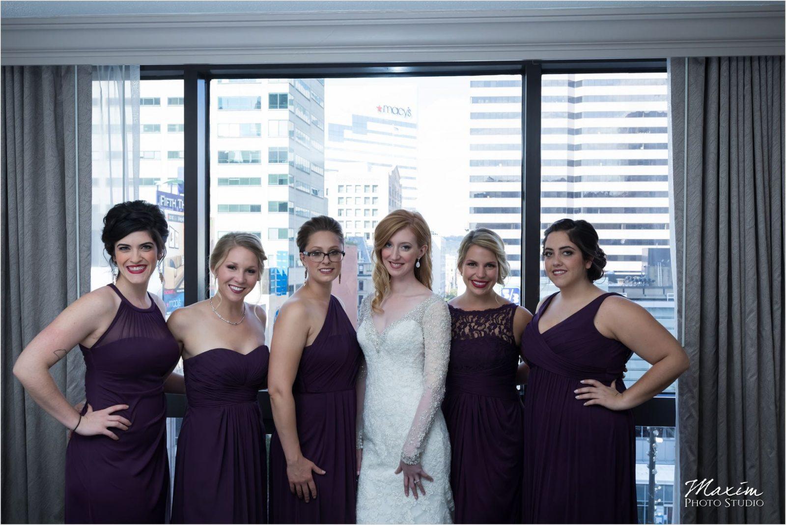 Cincinnati Wedding Photographers Art Museum Westin bride groom preparations
