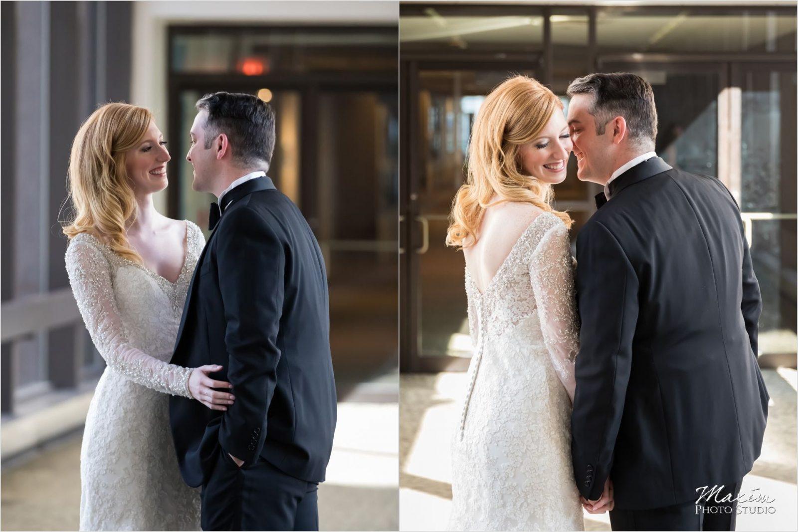 Cincinnati Wedding Photographers Art Museum Westin bride groom first look