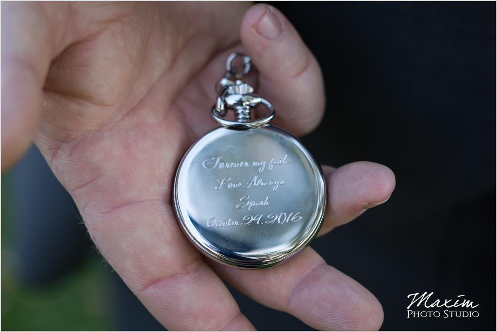 CIncinnati groom wedding watch gift