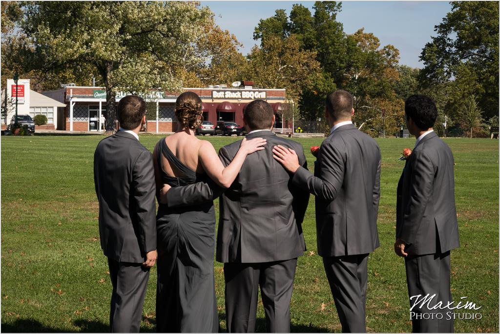 Cincinnati Wedding groom groomsmen