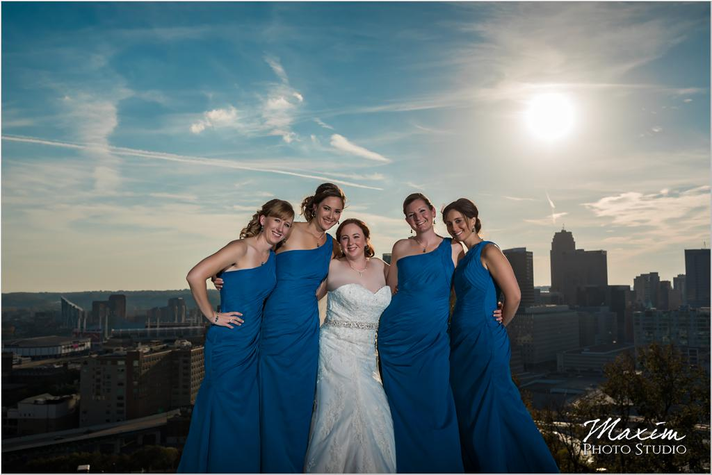 Rookwood Cincinnati overlook wedding bridal pictures