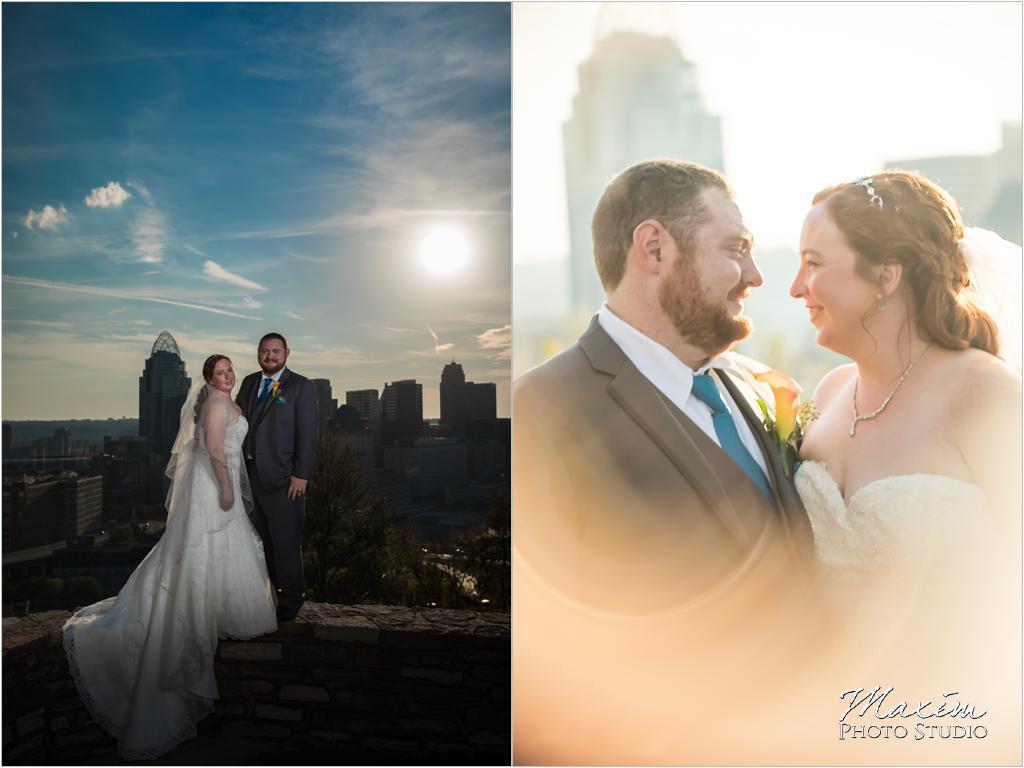 Rookwood Cincinnati overlook wedding bride groom pictures