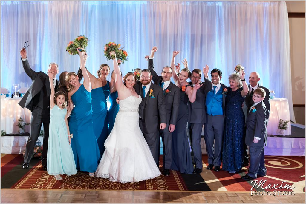 Cincinnati Marriott West Chester Bridal party wedding reception